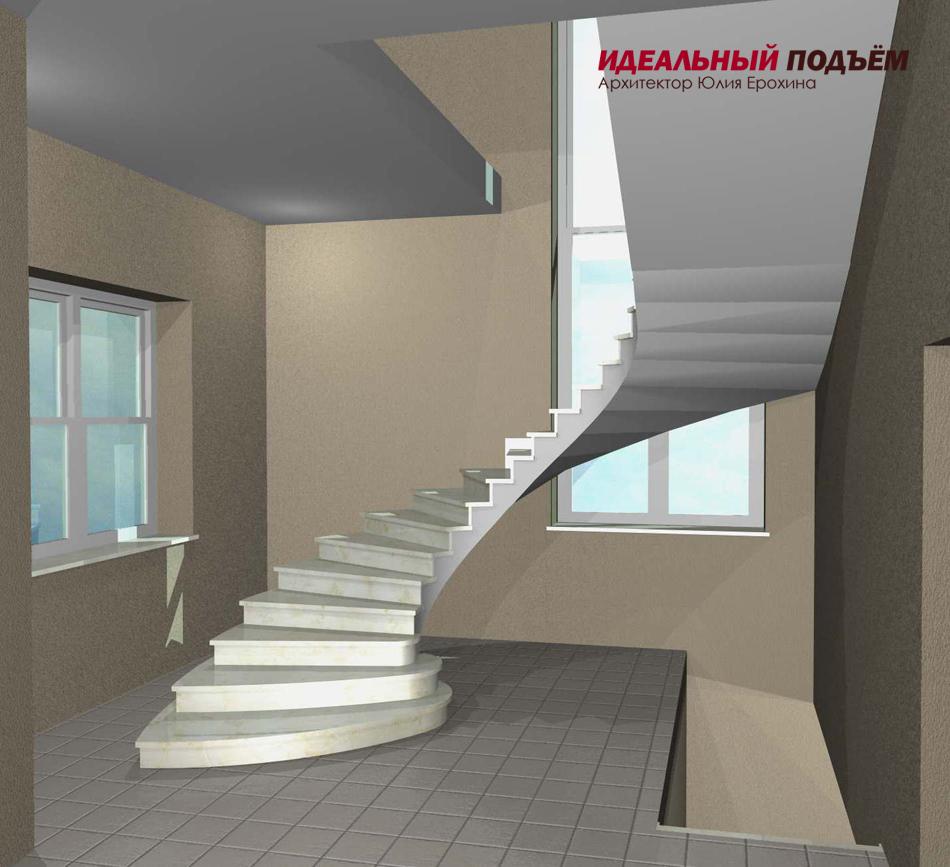 Проект бетонной лестницы