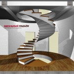 Проект бетонной винтовой лестницы