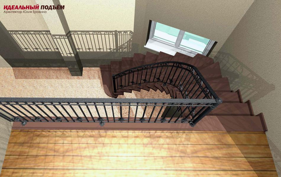 Проект лестницы на металлокаркасе