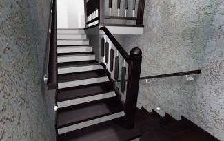 3D визуализация бетонной лестницы